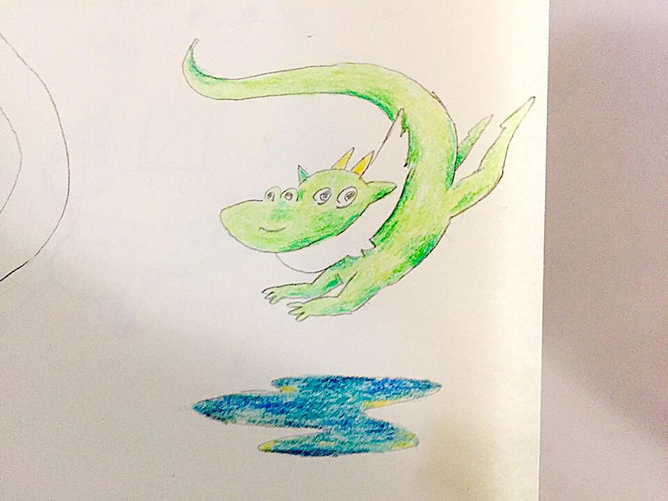 池の平の幻の池の竜の画像