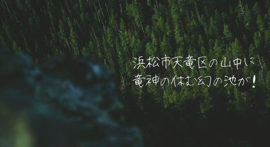浜松市天竜区池の平に幻の池が出現するの画像