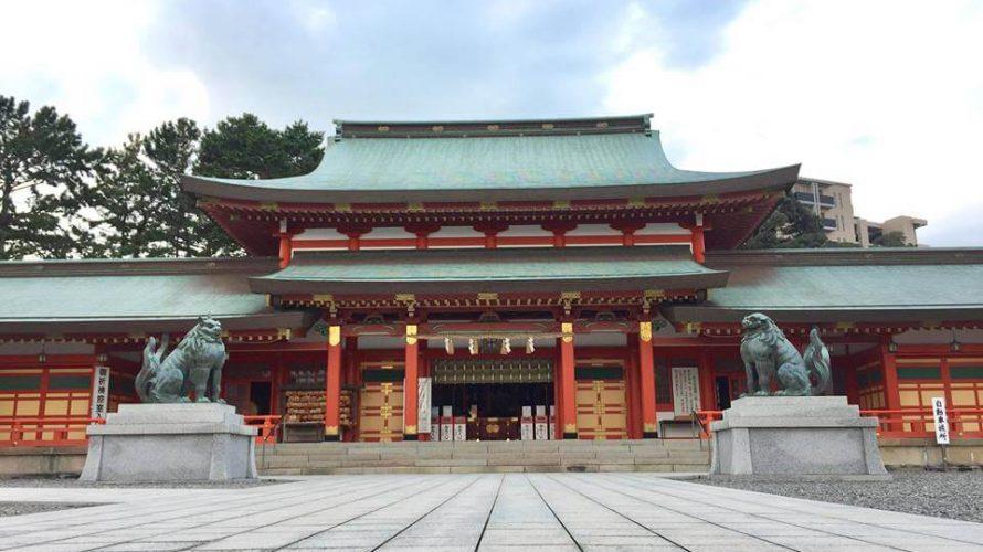 2つの神社が合わさった「諏訪神社・五社神社」で大きな狛犬に会おう