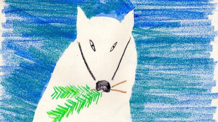 ざざんざの松と音羽の松の苗を運んだ白狐の画像