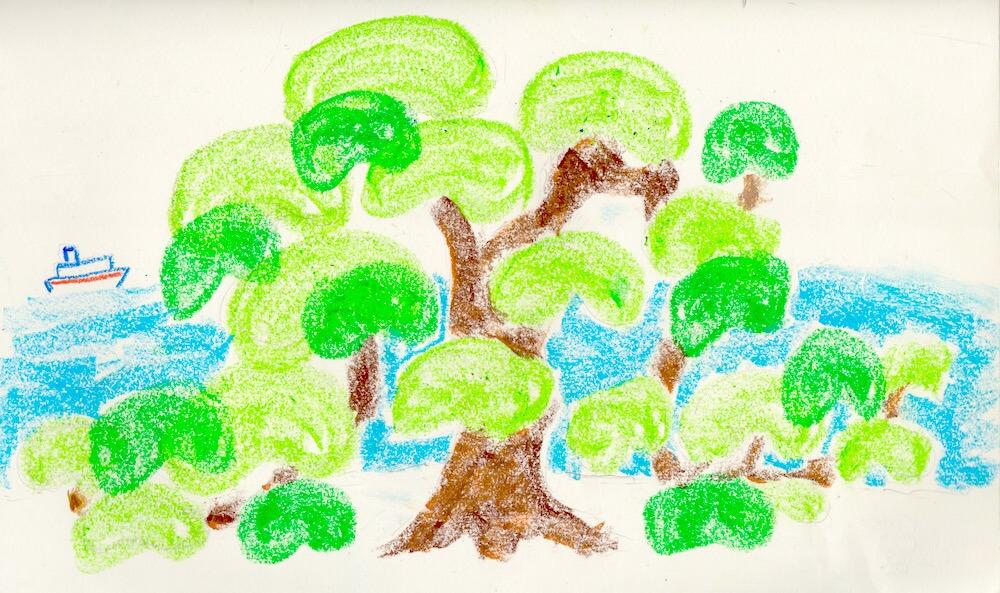 ざざんざの松と音羽の松の苗を運んだ白狐