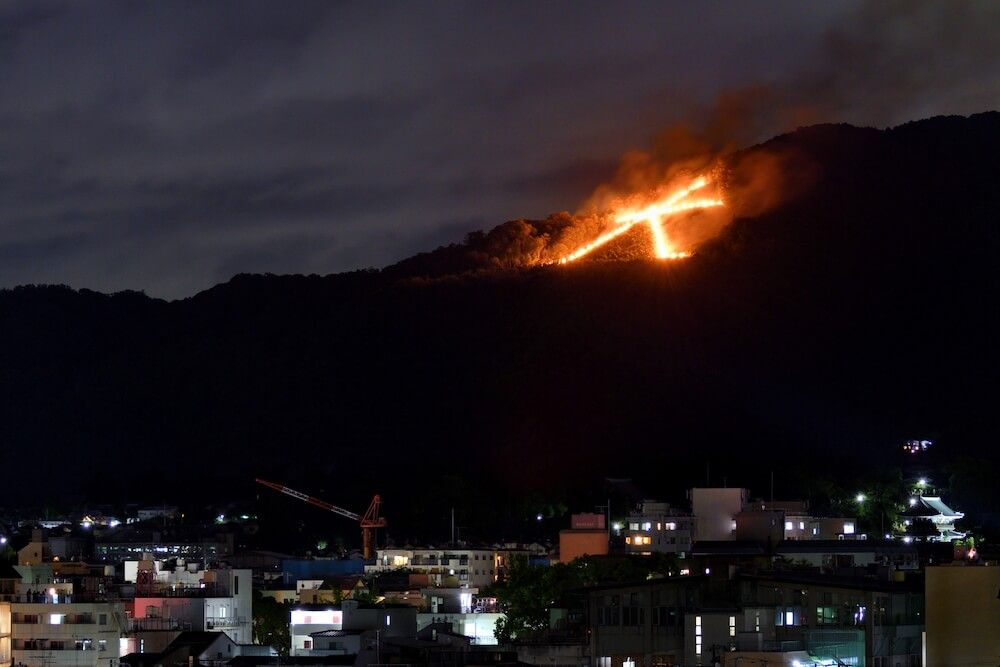 五山の送り火の画像