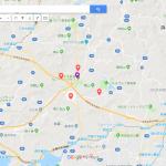 GoogleMapで行基の故郷「四方浄」と、四方の仏様の位置関係を可視化!