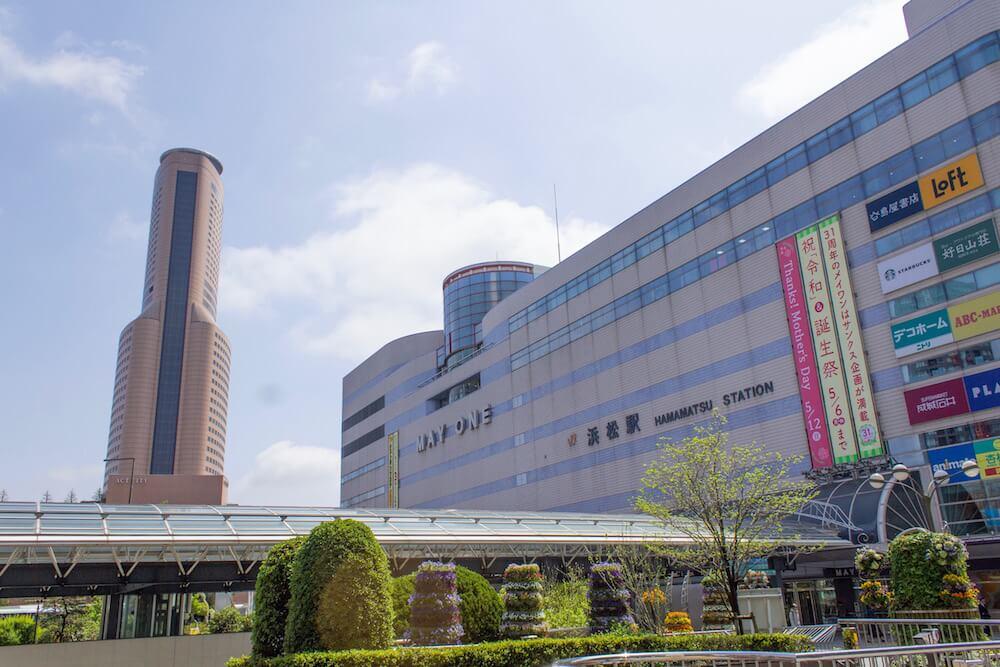 浜松駅とアクトシティの画像
