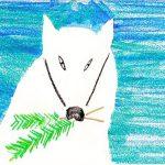 白狐が運んできた2本の松の小木
