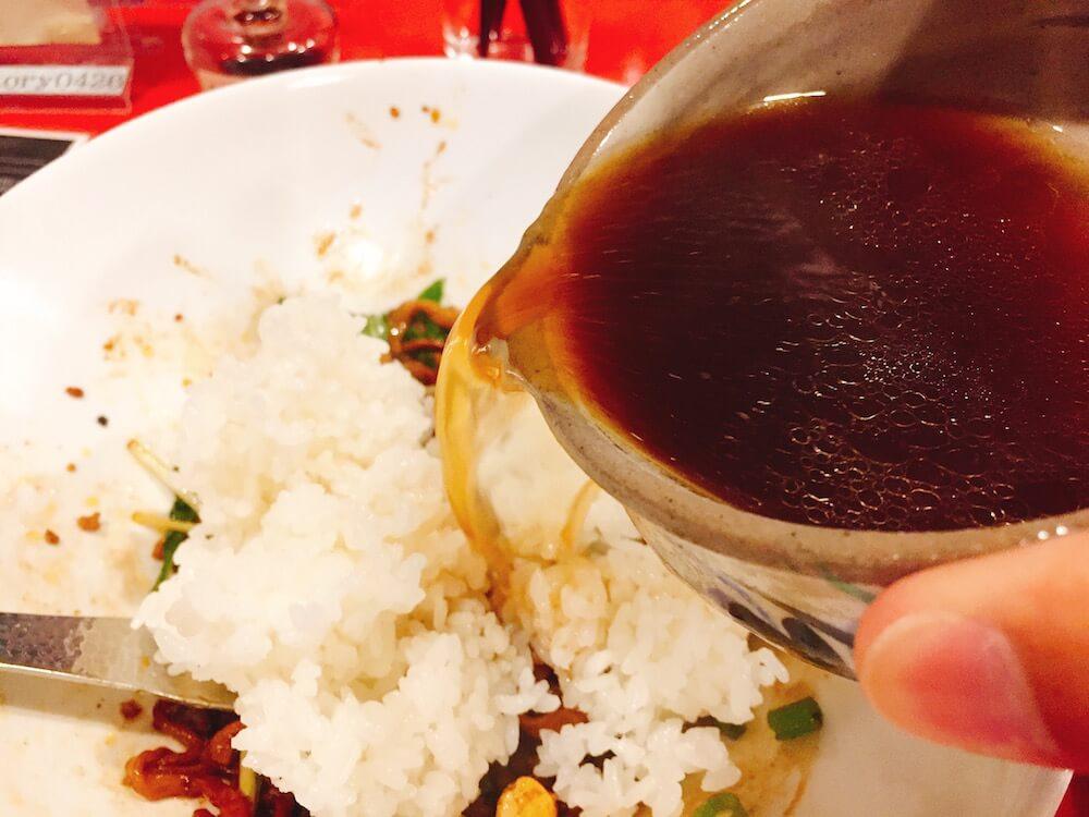 ラボラボラトリーの雑炊セットの画像ラトリーの担々麺の画像