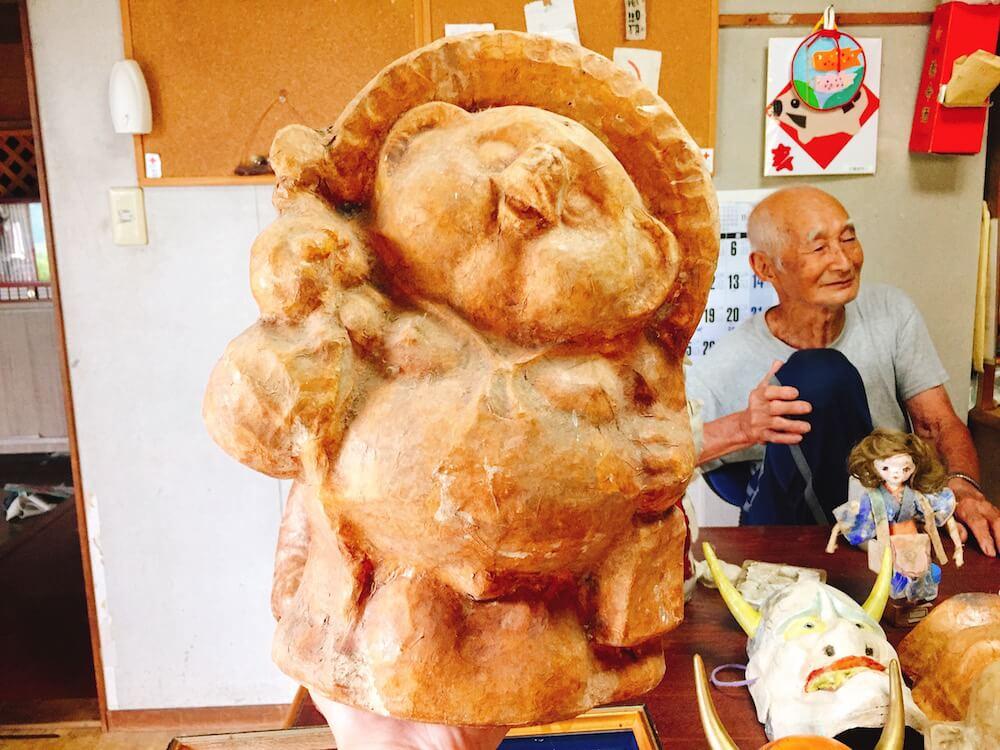 阿多古和紙と大城忠治さんの画像